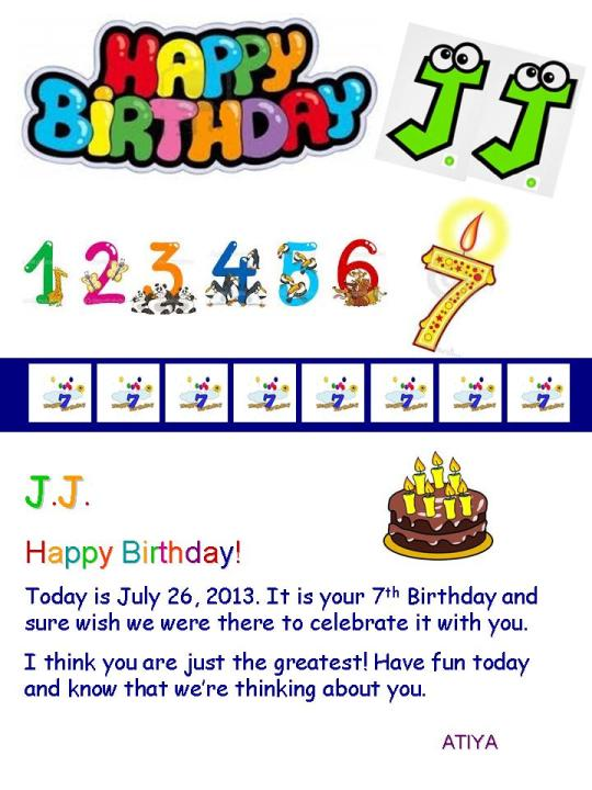 Birthday card for J.J.